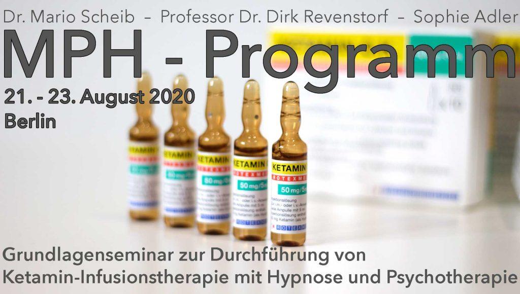 Seminar zur Durchführung von Ketamintherapie mit Hypnotherapie