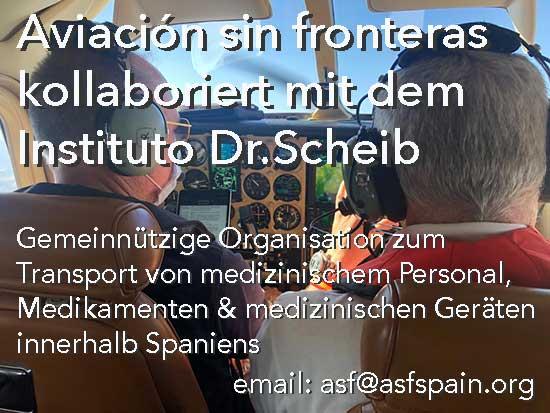 gemeinnützige Organisation zum Transport von medizinischem Personal und Medikamenten in Spanien