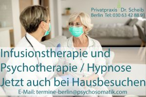 ärztliche Hausbesuche in Berlin, Behandlung von Depressionen mit Ketamin, Psychotherapie und Hypnose