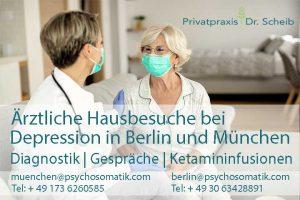 Ärztliche Hausbesuche bei Depressionen in Berlin und München